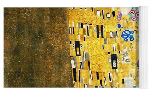The Kiss Yoga Mat by Gustav Klimt