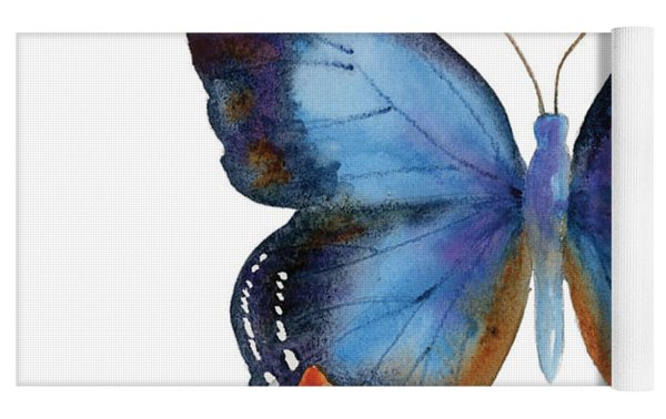 80 Imperial Blue Butterfly Yoga Mat