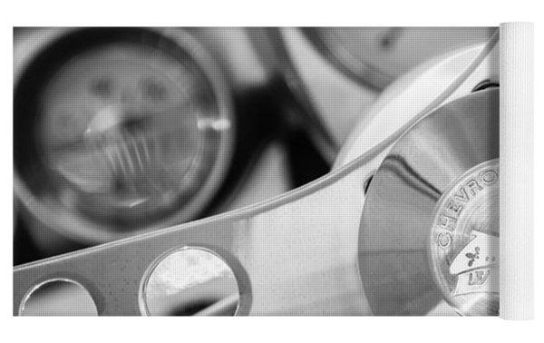 1960 Chevrolet Corvette Steering Wheel Emblem Yoga Mat by Jill Reger