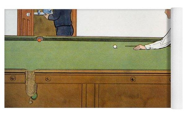 A Billiards Match Yoga Mat