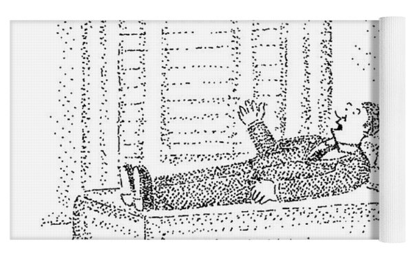 A Man Is Laying On The Psychiatrist's Couch Yoga Mat by Robert Mankoff