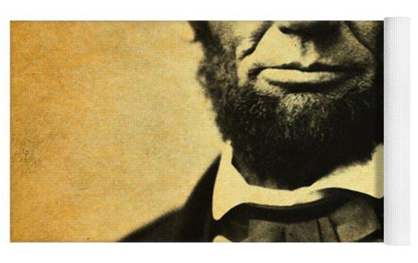 Abraham Lincoln Portrait And Signature Yoga Mat