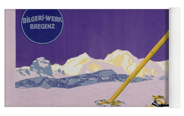 Advertisement For Skiing In Austria Yoga Mat