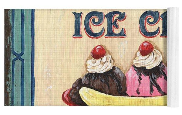 Allie's Ice Cream Yoga Mat by Debbie DeWitt