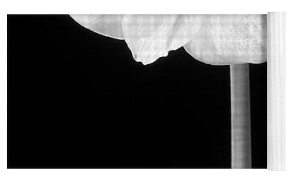 Amaryllis In Black And White Yoga Mat