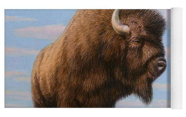 American Bison Yoga Mat by James W Johnson
