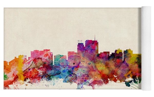 Anchorage Skyline Yoga Mat by Michael Tompsett
