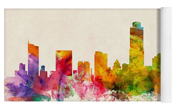 Austin Texas Skyline Yoga Mat by Michael Tompsett