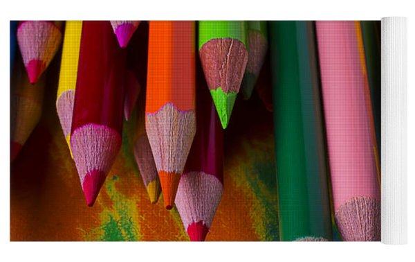 Beautiful Colored Pencils Yoga Mat