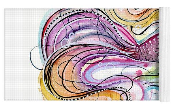 Betta Fish Watercolor Yoga Mat