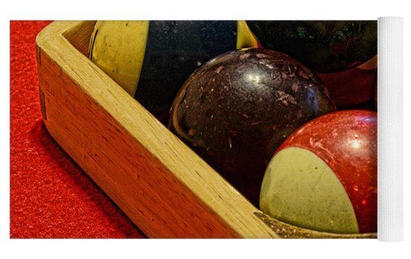 Billiards - 9 Ball - Pool Table - Nine Ball Yoga Mat