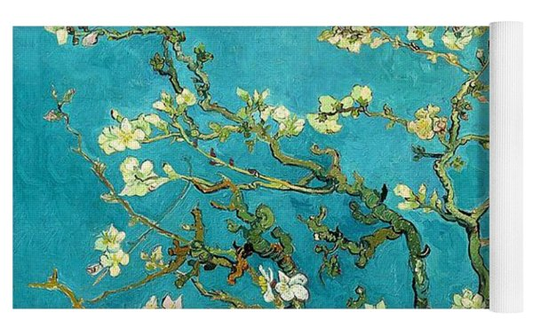 Blossoming Almond Tree Yoga Mat by Vincent Van Gogh