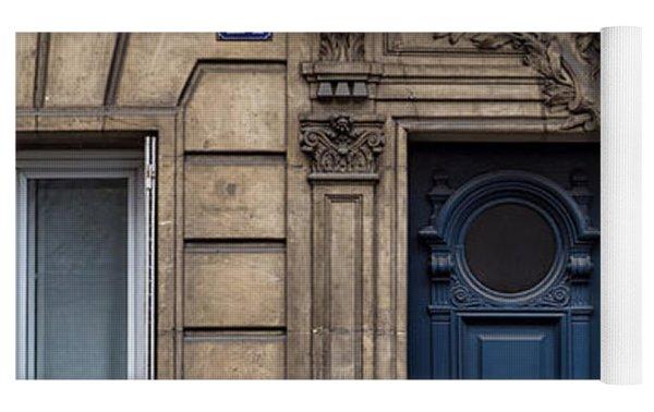 Blue Door In Paris Yoga Mat