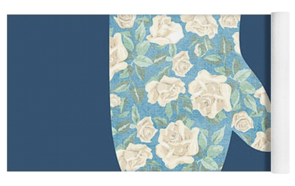 Blue Oven Mitt Yoga Mat by Nancy Ingersoll