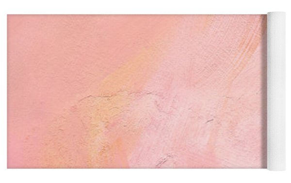 Blush- Abstract Painting In Pinks Yoga Mat by Linda Woods