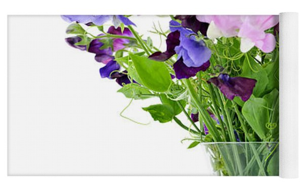 Bouquet Of Sweet Pea Flowers Yoga Mat