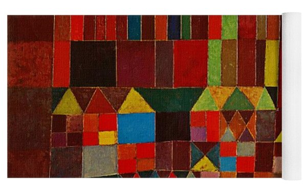 Castle And Sun Yoga Mat by Paul Klee