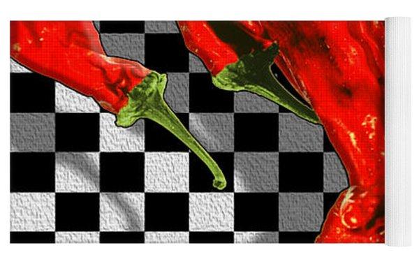 Checker Peppers Yoga Mat by Paul Wear