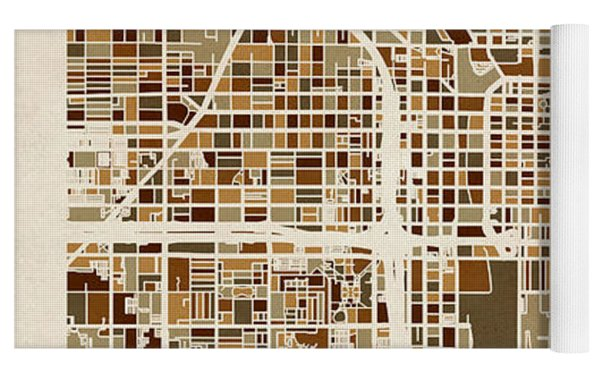 Chicago City Street Map Yoga Mat