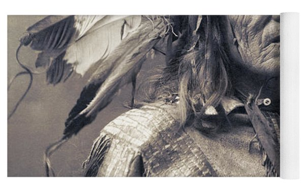 Chief He Dog Of The Sioux Nation  C. 1900 Yoga Mat