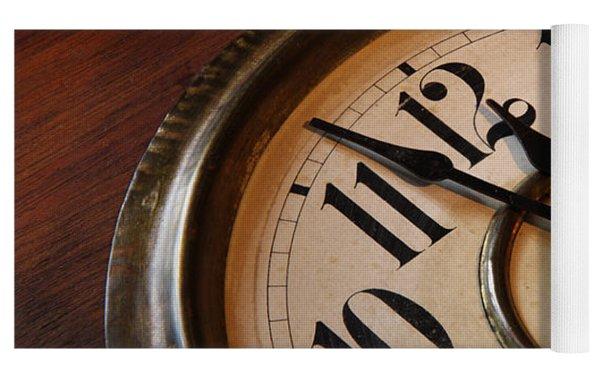 Clock Face Yoga Mat by Johan Swanepoel