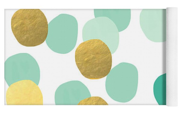 Confetti 2- Abstract Art Yoga Mat by Linda Woods