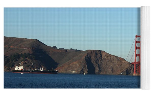 Crashing Waves And The Golden Gate Bridge Yoga Mat