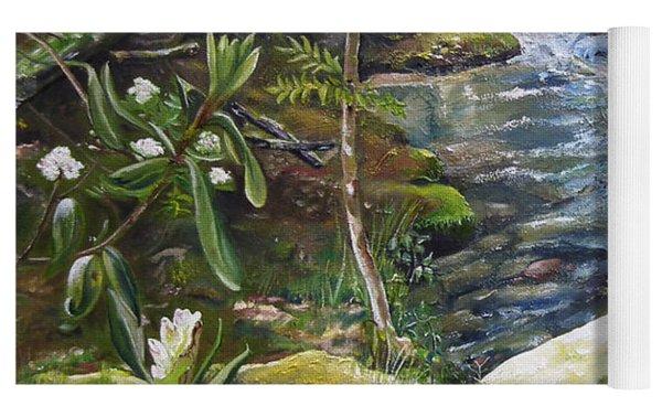 Creek -  Beyond The Rock - Mountaintown Creek  Yoga Mat by Jan Dappen