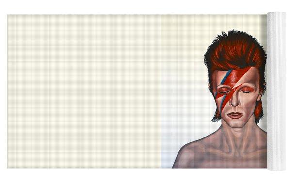 David Bowie Aladdin Sane Yoga Mat