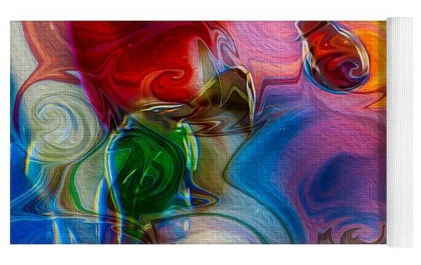 Enchanting Flames Yoga Mat by Omaste Witkowski