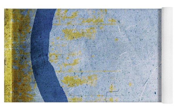 Enso No. 109 Blue On Blue Yoga Mat by Julie Niemela