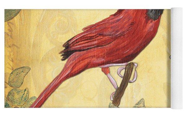 Exotic Bird Floral And Vine 2 Yoga Mat by Debbie DeWitt