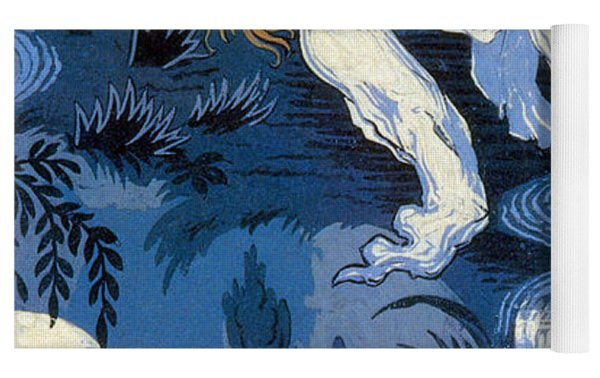 Fairies In The Moonlight French Textile Yoga Mat