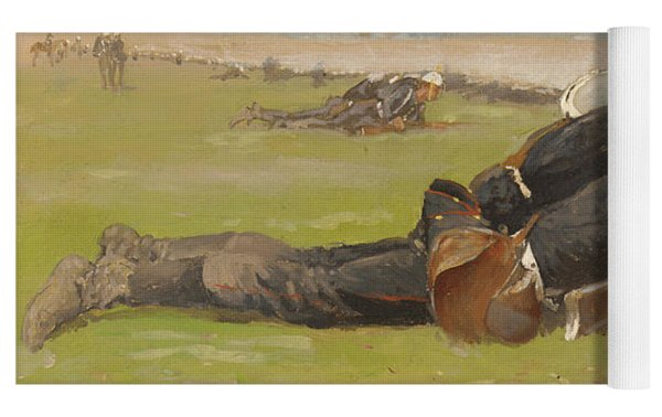 Field Drill For The Prussian Infantry  Yoga Mat by Frederic Remington