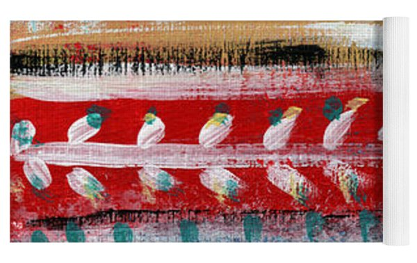 Fiesta 3- Colorful Pattern Painting Yoga Mat