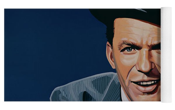 Frank Sinatra Yoga Mat by Paul Meijering