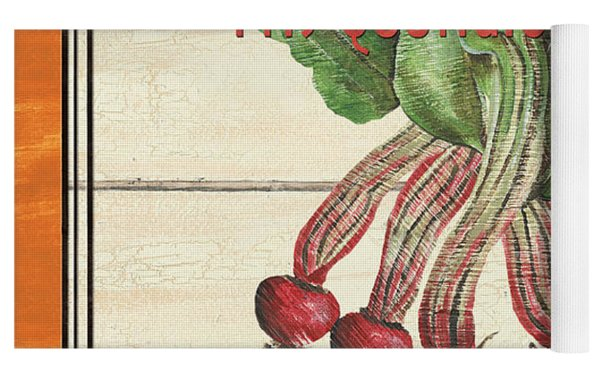 French Vegetable Sign 4 Yoga Mat by Debbie DeWitt