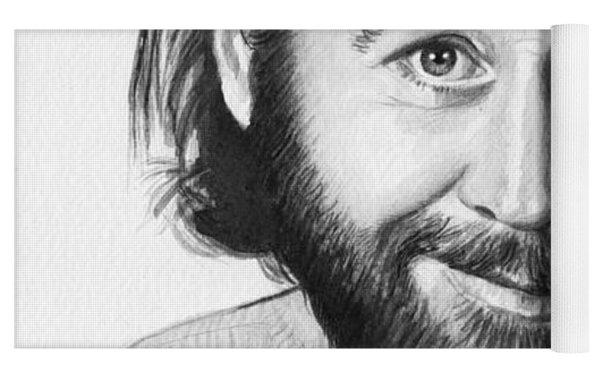 George Carlin Portrait Yoga Mat