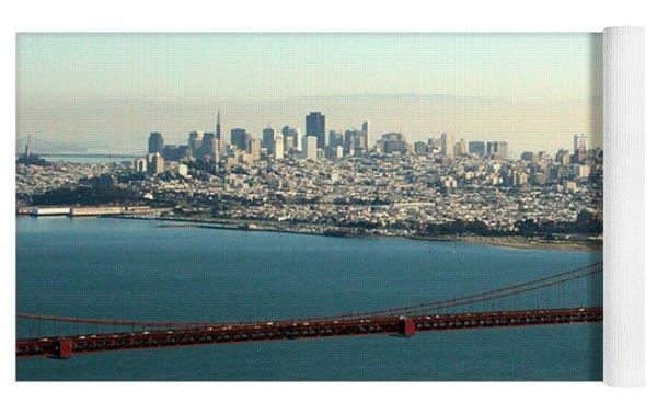 Golden Gate Bridge Yoga Mat by Linda Woods