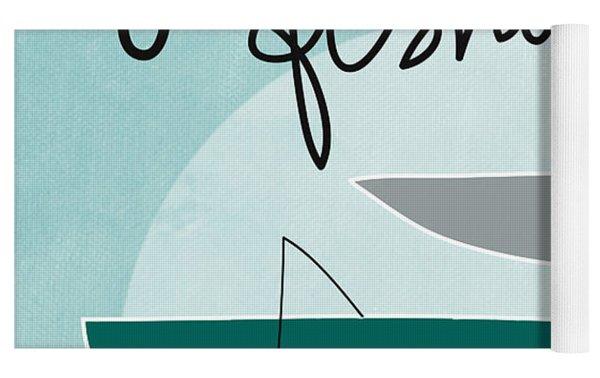 Gone Fishing Yoga Mat by Linda Woods