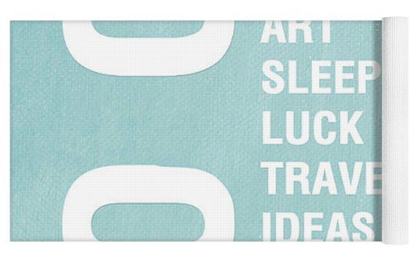 Good Things Blue Yoga Mat by Linda Woods