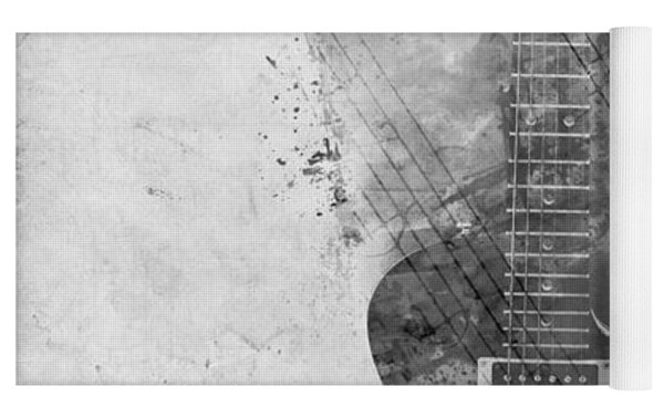 Guitar Siren In Black And White Yoga Mat by Nikki Smith