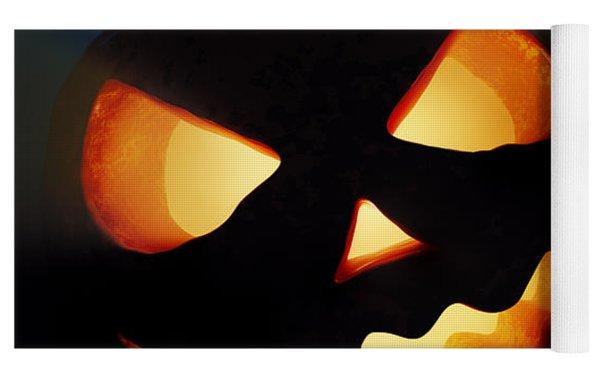 Halloween Pumpkins Closeup -  Jack O'lantern Yoga Mat