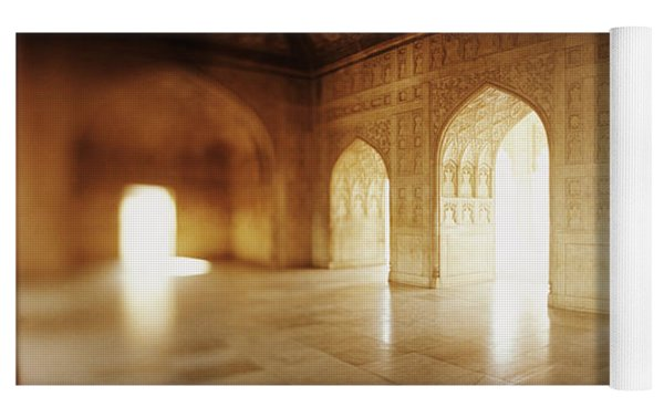 Interiors Of A Hall, Agra Fort, Agra, Uttar Pradesh, India Yoga Mat