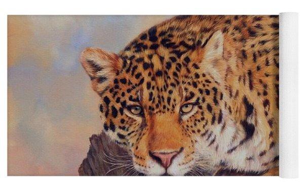 Jaguar Yoga Mat by David Stribbling