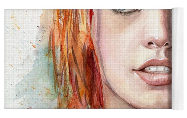 Leeloo Portrait Multipass The Fifth Element Yoga Mat by Olga Shvartsur