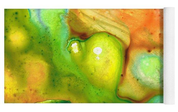 Lightness Of Being Abstract Art By Sharon Cummings Yoga Mat