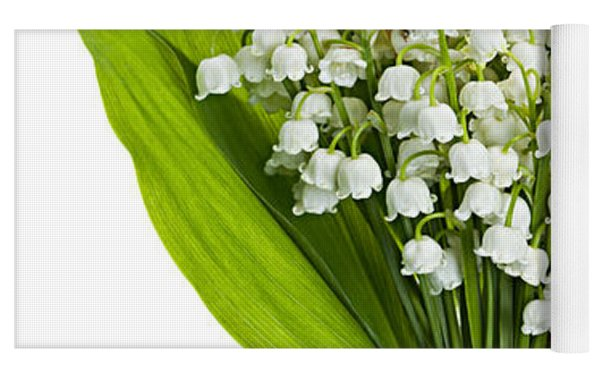 Lily-of-the-valley Bouquet Yoga Mat by Elena Elisseeva