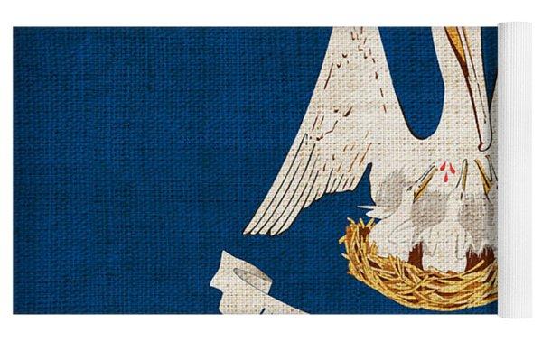 Louisiana State Flag Yoga Mat