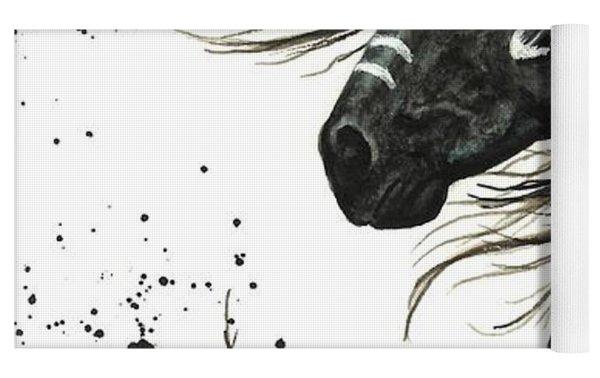 Majestic Spirit Horse  Yoga Mat by AmyLyn Bihrle